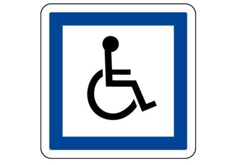 Panneau de stationnement CE14 Pour PMR
