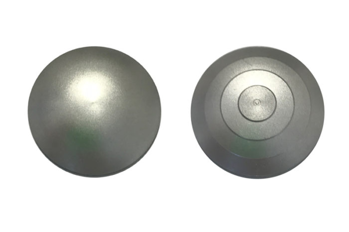 Plot podotactile aluminium anodisé lisse ou rainuré
