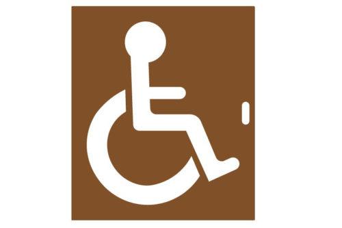 Pochoir handicapé fauteuil roulant PMR
