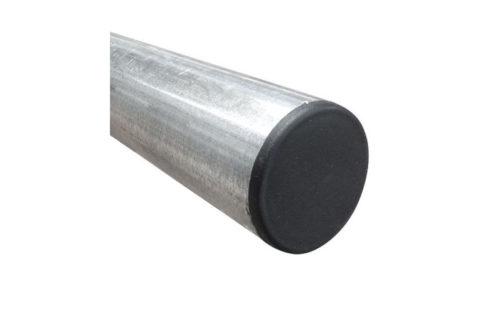 Poteau en acier galvanisé, diamètre 60 mm