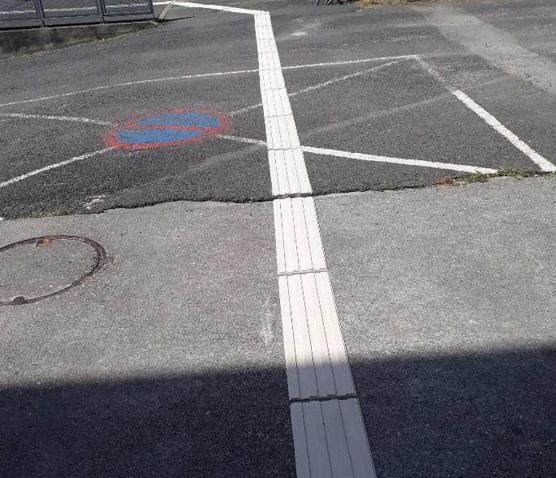 Mise en place de bandes de guidage extérieure