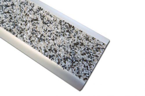 Nez de marche plat P39 minérale gris pour extérieur