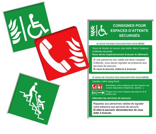 Signalétique Handicap Incendie & Evacuation